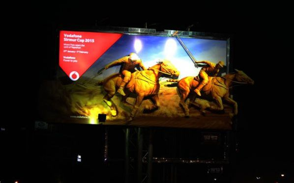 Vodafone goes outdoor to promote Sirmur Cup 2015 in Jaipur