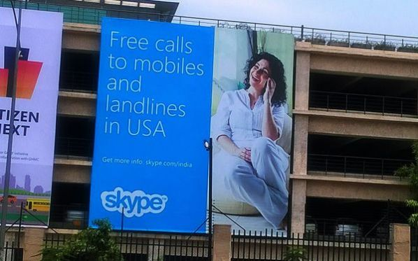 Skype dials into OOH to promote new offering among Indian audience
