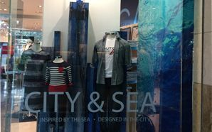Nautica Spring 2016 windows inspired by sea & the city