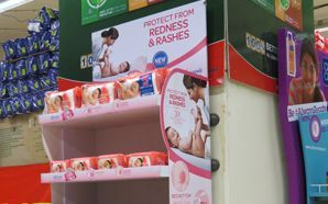 J&J Baby Wipes entices shoppers at the store
