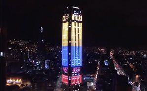 McCann Colombia drapes Bogotá's highest tower in national colours
