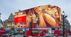 Installation of new Picadilly Lights curved LED display media complete