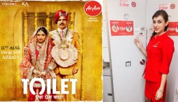 Air Asia takes Toilet: Ek Prem Katha's Swachh Azaadi mission sky high