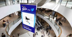 Australia'a doohfa brings together Nestlé's Felix, Twitter on DOOH