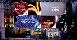 2,000 sq.ft Piccadilly Circus billboard programmed to flash ads as per audience profile