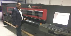 Roop Sign & Graphics installs Efi VUTEk LX3 Pro 10 color LED UV inkjet printer