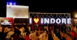 AdWorld develops 'I love Indore' signage in Indore