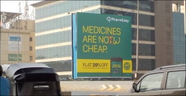 PharmEasy delivery app writ large on OOH formats