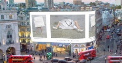 Victoria Beckham debuts on Piccadilly Lights