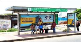 Center for Sight promotes Eyecare on Delhi Street Furniture