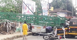Railway orders probe into hoarding structure collapse in Pune