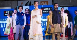 fbb India fashions flash ramp walk at Mumbai airport