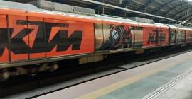 KTM Bikes rides high on train wrap branding