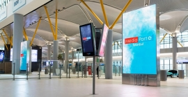 Samsung installs LED signage at new Istanbul airport