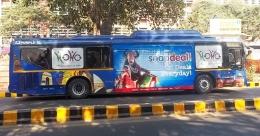 Proactive In and Out bags bus media rights in Delhi, Indore and Kolhapur