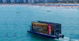 Floating billboards take OOH into new territories