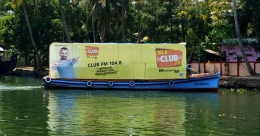 Smooth sailing visibility for Club FM 104.8 on Kerala backwaters