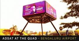 HS AD India, Orienta Cine Advt install new digital display at the QUAD in Blr airport