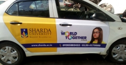 HP, Sharda University ride high on cab branding