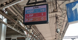 Poll results shown live on  PlayAds' digital network across 19 railway stations in Kerala