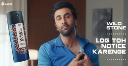 Wild Stone signs on Ranbir Kapoor