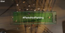 Parks are for playing, not parking, says Uber campaign
