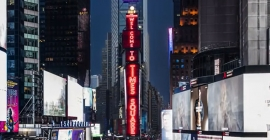 Samsung installs new LED displays at iconic Times Square site