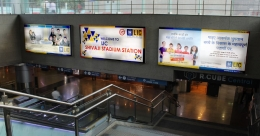 LIC carves its name on Shivaji Stadium Metro Station