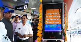 Railway Board Chairman inaugurates DOOH signages at New Delhi Rly Stn