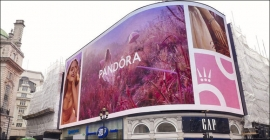Pandora dazzles new brand identity at Piccadilly Lights