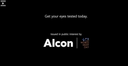 With blank cinema screen, Alcon says it all