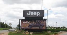 Jeep makes 18 ft. tall presence at Bengaluru International Airport
