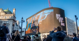 No Time To Die' lights up Piccadilly