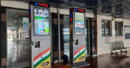 Nexyite installs interactive DOOH media at Visakhapatnam Rly Station