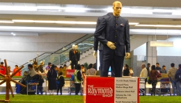 Raymond's 'Complete Man' arrives in style