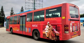 Kurl-On catches bus for branding in Bangalore