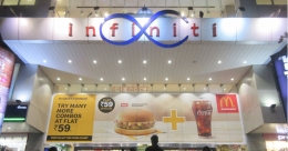 McDonald's tempts foodies with multiple offers displayed on mall media