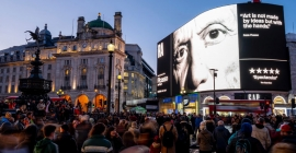 Pablo Picasso's creative spirit comes alive on Piccadilly Lights