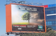 Sony BBC Earth states Climate Change Facts on OOH