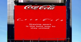 Maintain Social Distance : message from Coca-Cola
