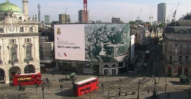 UK's Ministry of Defence marks VE Day 75 on Piccadilly Lights