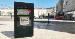 Portugal's TOMI smart city displays go touchless