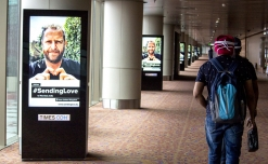 Talon's DOOH campaign #SendingLove reaches Mumbai airport