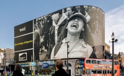 Piccadilly Lights features vivid images of 'The Feelings of Injustice', in solidarity with 'Black Lives Matter'