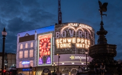 Ancestry® beams a nostalgic showcase of illuminated signs on Piccadilly Lights