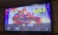Delhi metro advertising restarts with 'Khaali Peeli' movie promotion
