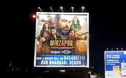 Amazon creates stir with OOH innovation for Mirzapur 2 launch