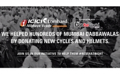 ICICI Lombard provides cycles and helmets to Mumbai Dabbawallas as Diwali gift