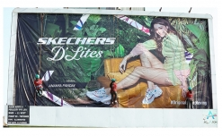 Professional female mountaineers take charge for Skechers' OOH campaign installation