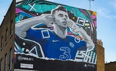 An artistic OOH campaign for EA SPORTS™ FIFA 21's launch on PlayStation 5
